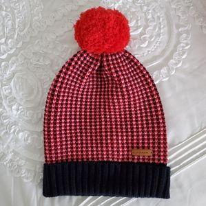 Coach Logo Knit Pom Pom Beanie Hat